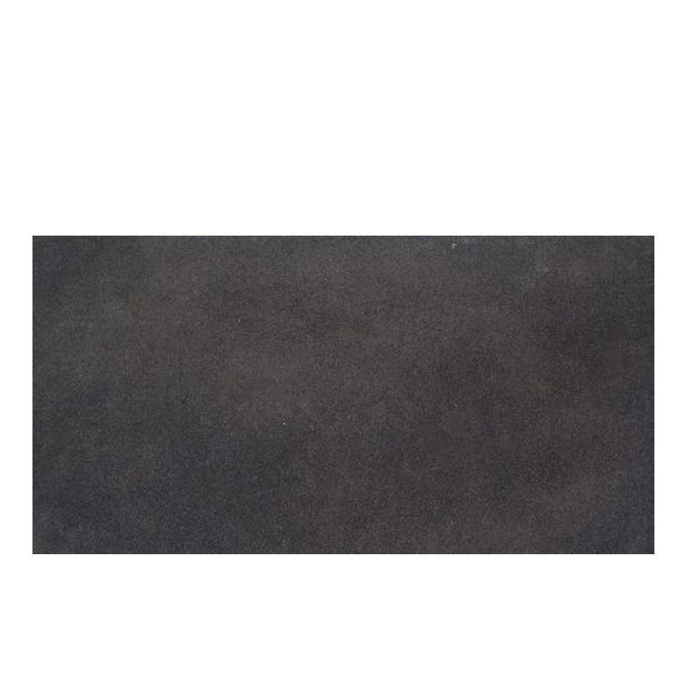 Daltile Veranda Gunmetal 4 in. x 20 in. Porcelain Surface Bullnose Floor and Wall Tile