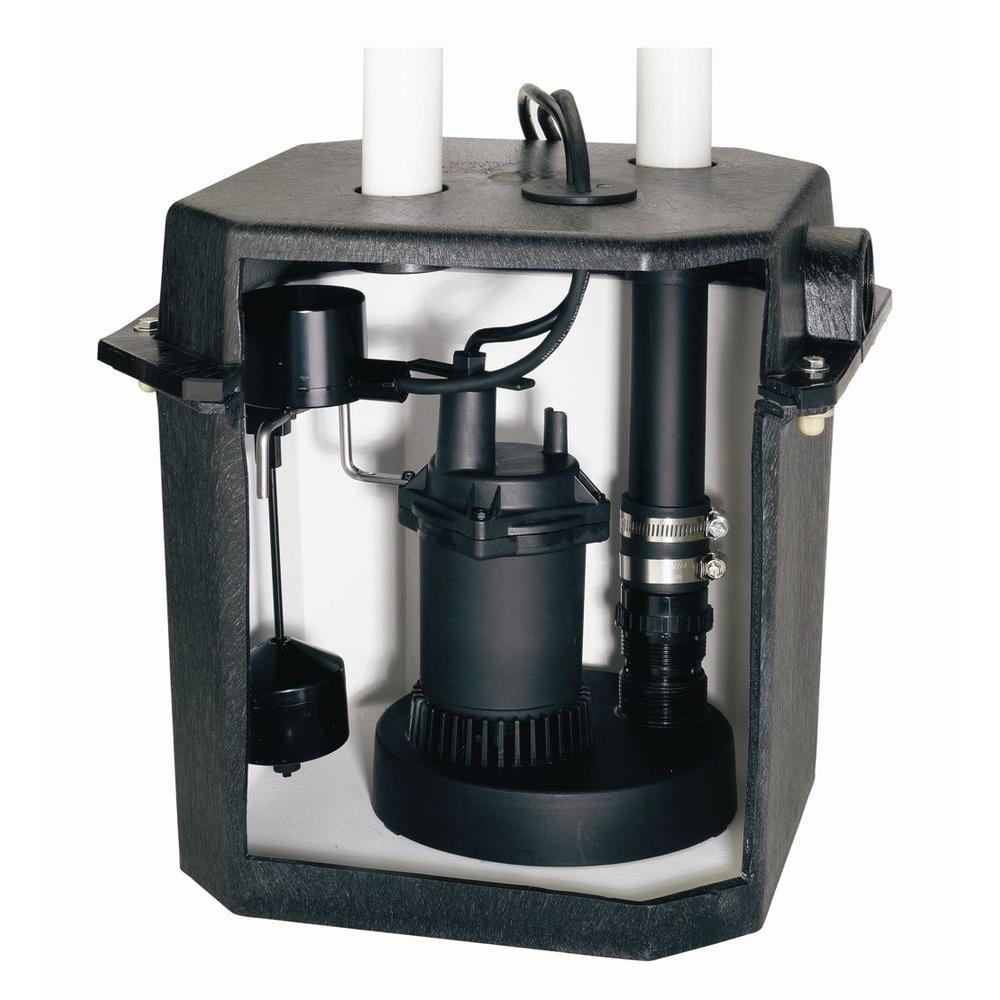 Flotec 6-Gal. Sink Tray System With 1/4 HP Sump Pump