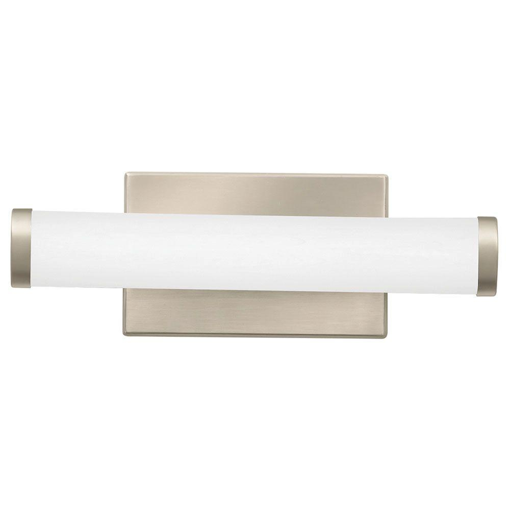 lithonia lighting contemporary cylinder brushed nickel 3k led vanity rh homedepot com
