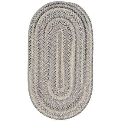 Tooele Grey 9 ft. 2 in. x 13 ft. 2 in. Oval Area Rug