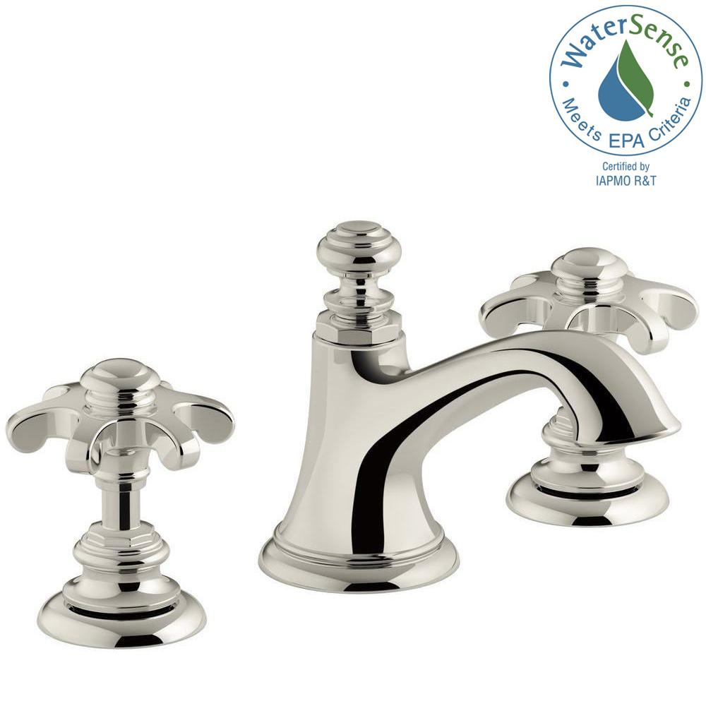 KOHLER Artifacts 8 in. Widespread 2-Handle Bell Design Bathroom ...