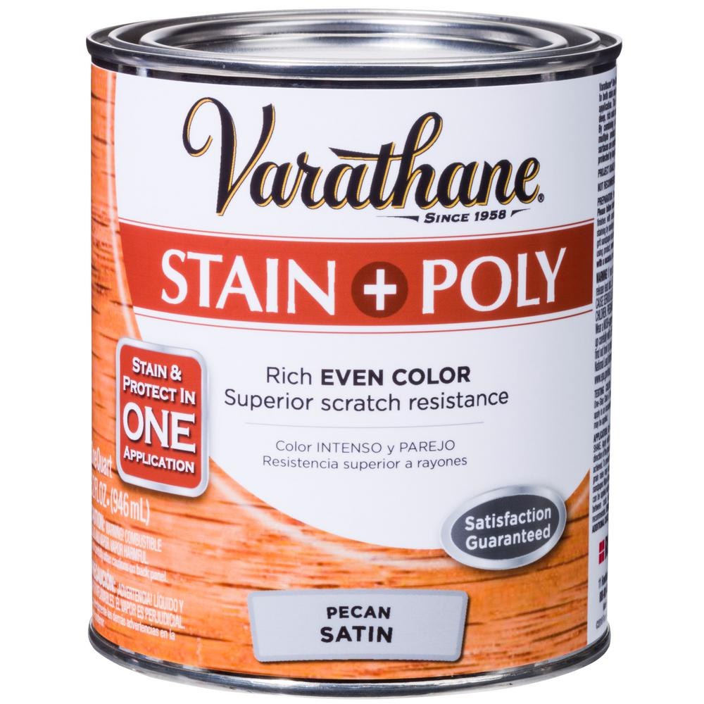 Varathane 1-qt. Pecan Satin Water-Based Interior Stain and Polyurethane (2-Pack)
