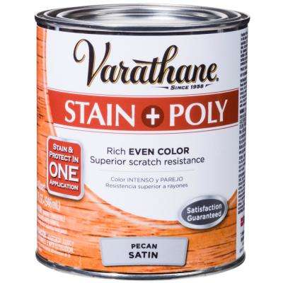1-qt. Pecan Satin Water-Based Interior Stain and Polyurethane (2-Pack)