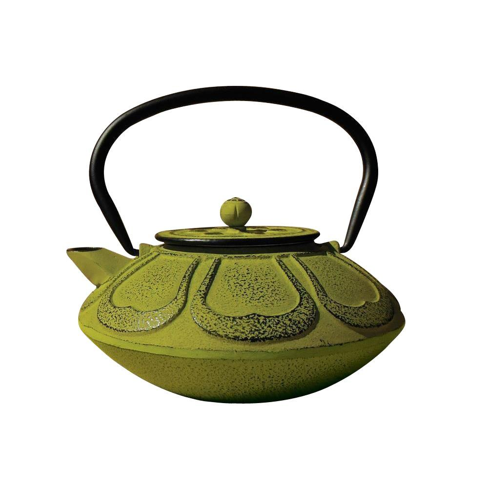 Old Dutch Meiji Moss Green Cast Iron Teapot