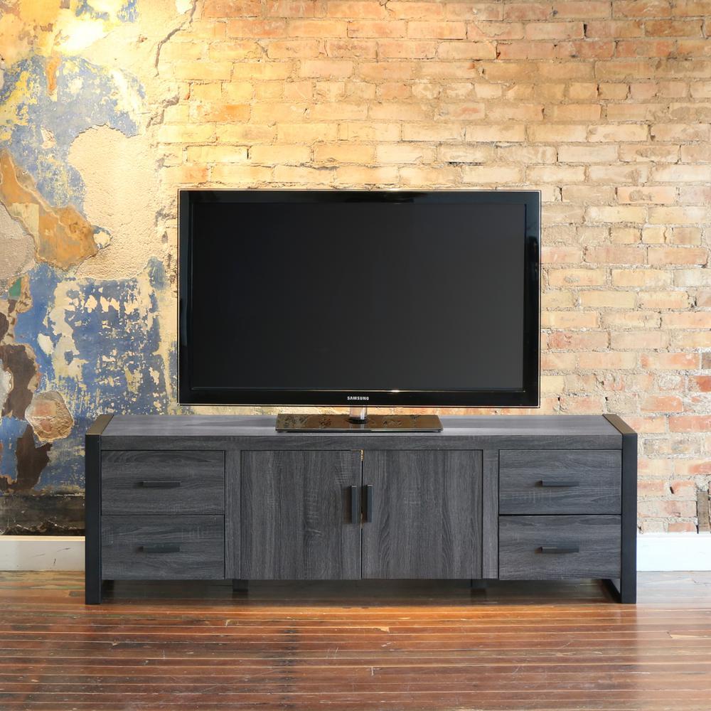 Walker Edison Furniture Company Urban Blend Charcoal Entertainment Center