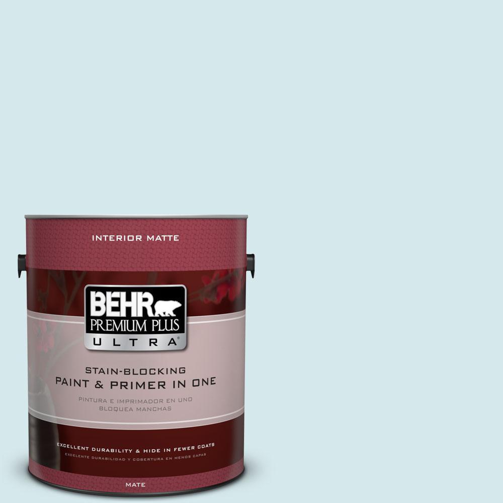 BEHR Premium Plus Ultra 1 gal. #S490-1 Permafrost Matte Interior Paint