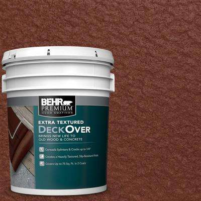 5 gal. #SC-118 Terra Cotta Extra Textured Wood and Concrete Coating