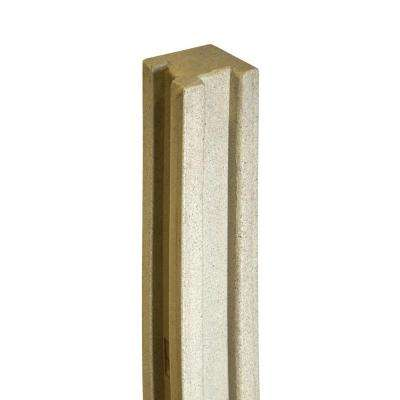 5 in. x 5 in. x 8-1/2 ft. Beige Composite Fence Corner Post