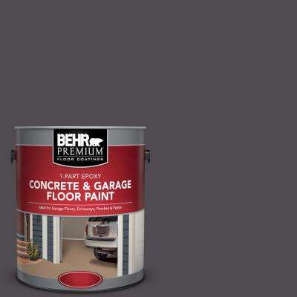 1 gal. #N570-7 Black Elegance 1-Part Epoxy Satin Interior/Exterior Concrete and Garage Floor Paint