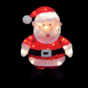 18 in led 3d pre lit santa claus - Misfit Toys Outdoor Christmas Decorations