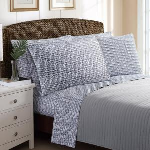 6-Piece Printed Rope Stripe Queen Sheet Sets by