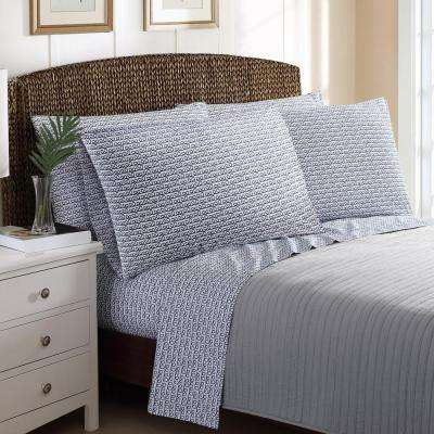 6-Piece Printed Rope Stripe Queen Sheet Sets
