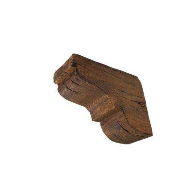 10-5/8 in. x 10-5/8 in. x 4-3/4 Prefinished Polyurethane Rustic Faux Wood Corbel