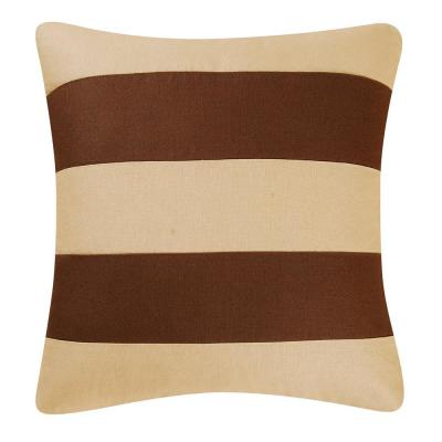 18 in. x 18 in. Camel/Brown Stripes Pillow