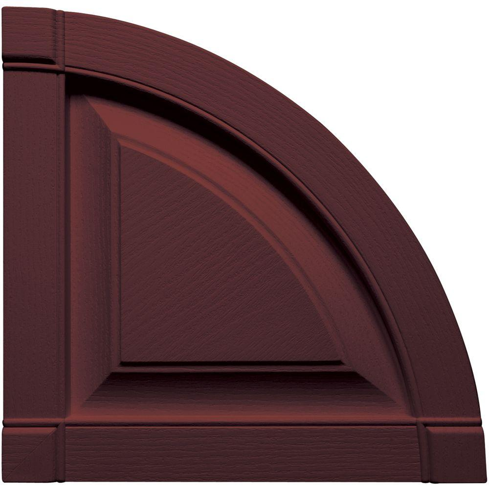 15 in. x 15 in. Raised Panel Design Bordeaux Quarter Round