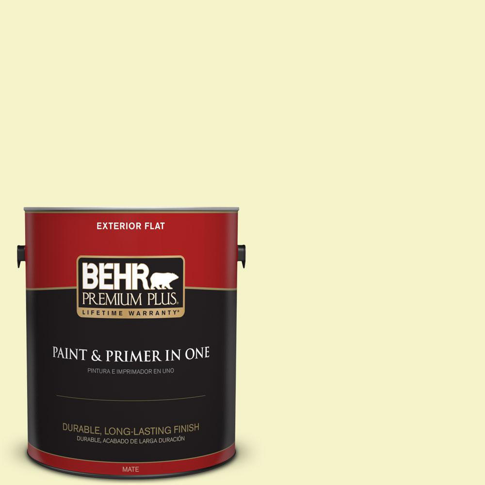 1-gal. #400A-1 Candlelight Yellow Flat Exterior Paint