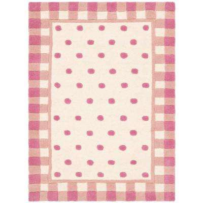 Novelty Ivory/Pink 2 ft. x 3 ft. Area Rug