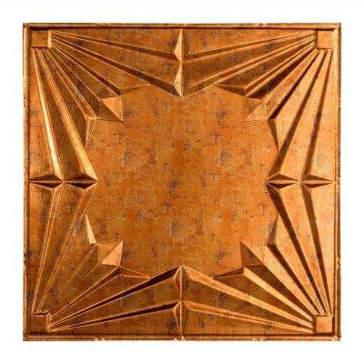 Art Deco - 2 ft. x 2 ft. Lay-in Ceiling Tile in Muted Gold