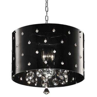 10 in. 3-Light Chrome Star Ceiling Crystal Chandelier