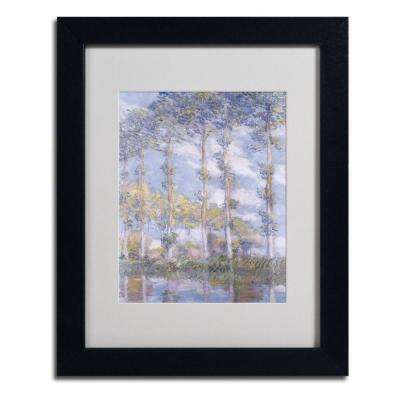 11 in. x 14 in. The Poplars Matted Black Framed Wall Art