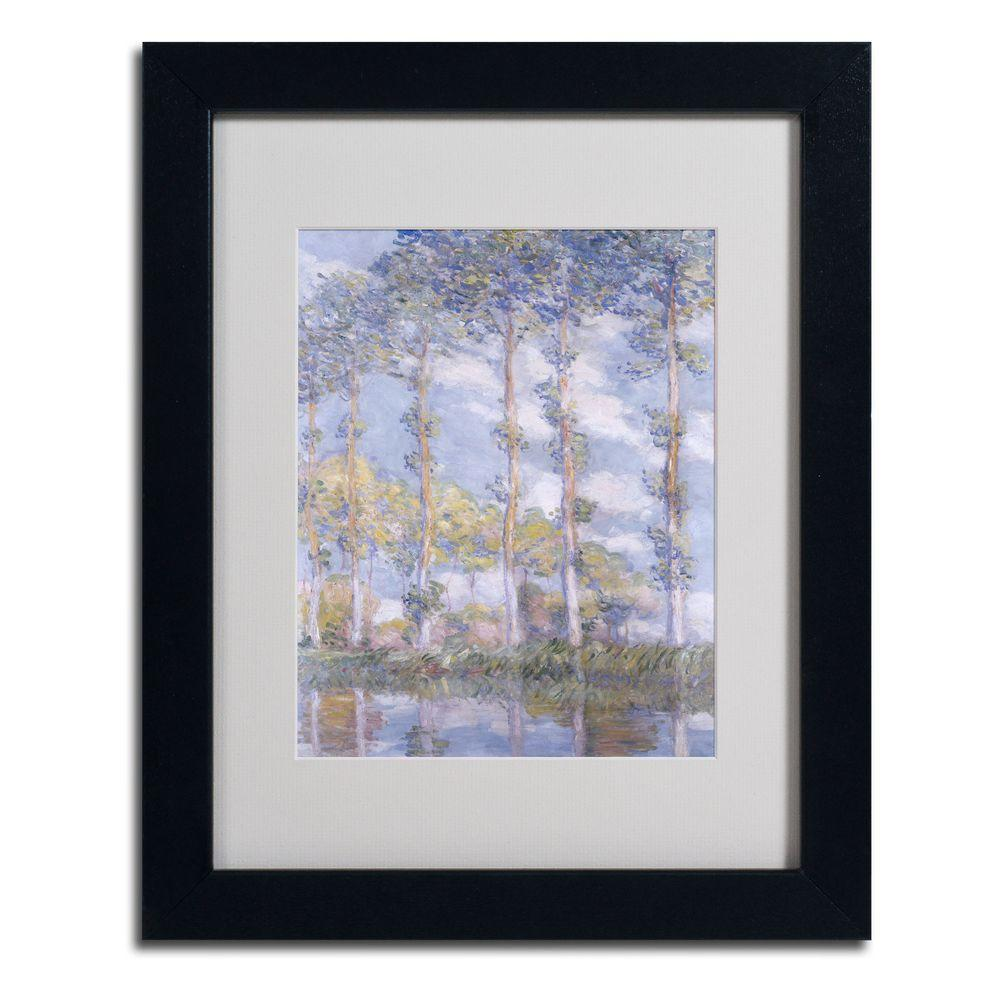 Trademark Fine Art 11 in. x 14 in. The Poplars Matted Black Framed Wall Art