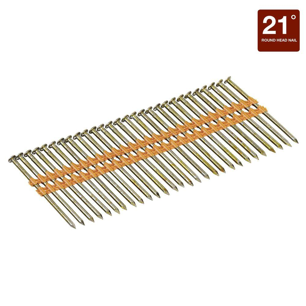 Bostitch 2-3/8 in. x 0.113 Smooth Shank 21-Degrees Plastic Collated ...