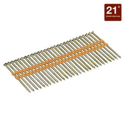 2-3/8 in. x 0.113 Smooth Shank 21-Degrees Plastic Collated Stick Framing Nails (5000 per Pack)