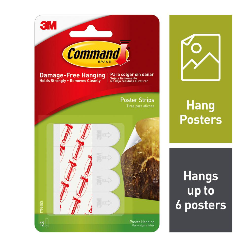 Command Small Poster Strips (12-Pack)
