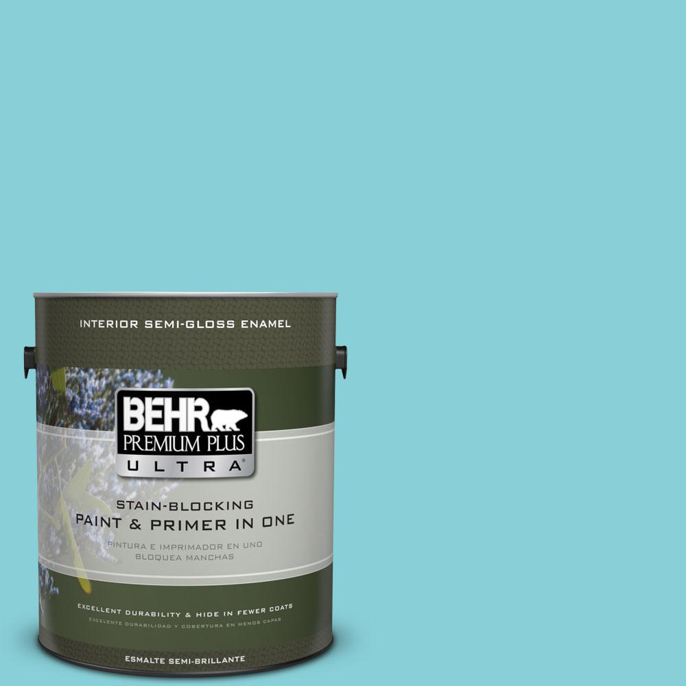 BEHR Premium Plus Ultra Home Decorators Collection 1-gal. #HDC-MD-14 Sky Watch Semi-Gloss Enamel Interior Paint