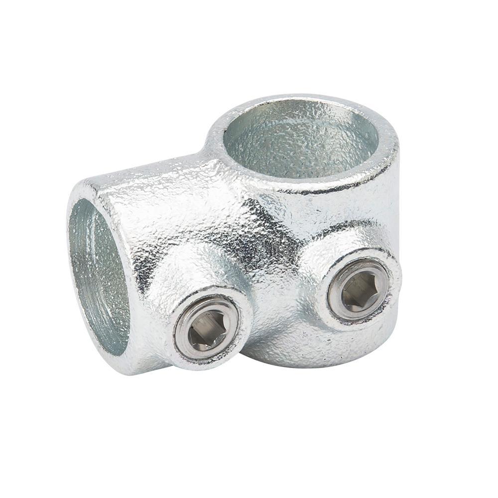 3 4 In Galvanized Structural Steel Single Socket Tee 4