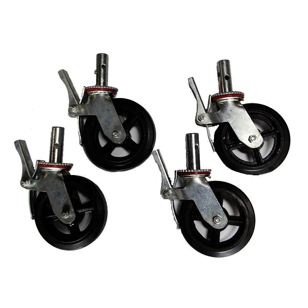 Fortress 8 in. Scaffold Caster (4-Pack)