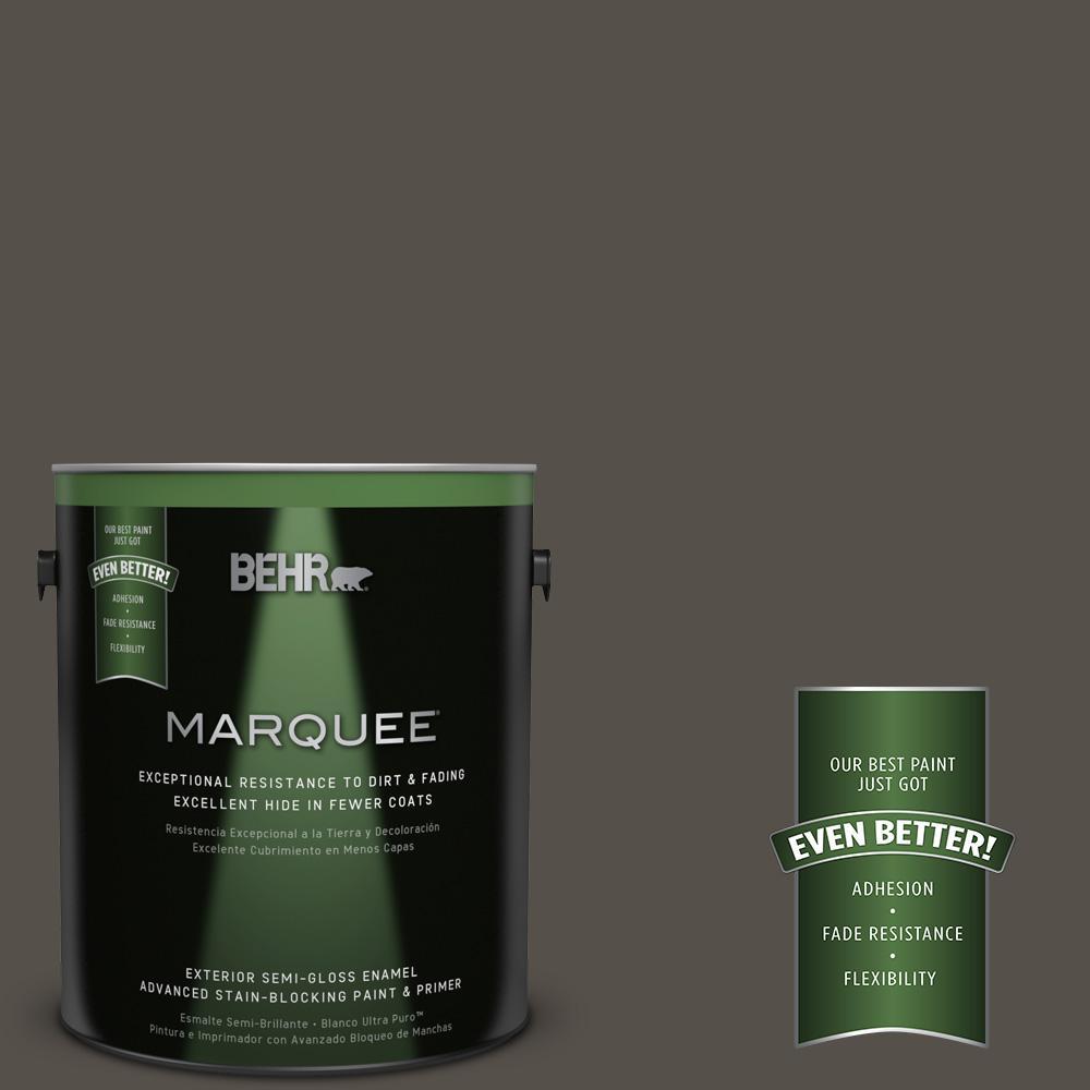 1-gal. #790D-7 Black Bean Semi-Gloss Enamel Exterior Paint