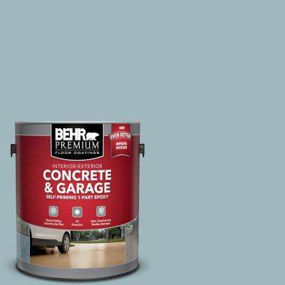 1 gal. #PFC-51 Nautical Blue Self-Priming 1-Part Epoxy Satin Interior/Exterior Concrete and Garage Floor Paint