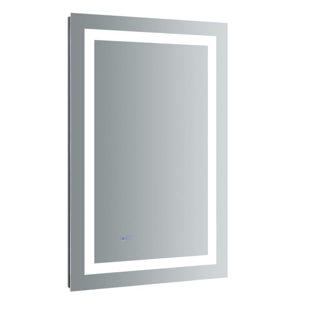 Fresca Santo 24 In W X 36 H Frameless Single Bathroom Mirror With Led Lighting And Defogger