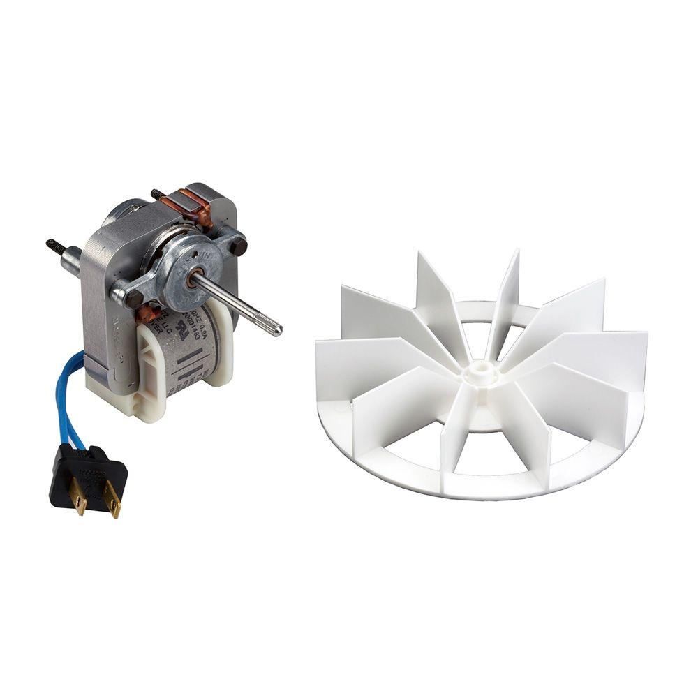 broan replacement motor and impeller for 659 and 678 bathroom rh homedepot com Bathroom Exhaust Fan Motor Replacement Bathroom Exhaust Fan Replacement Covers