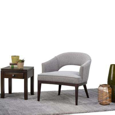 Mallory Grey Tweed Fabric Arm Chair