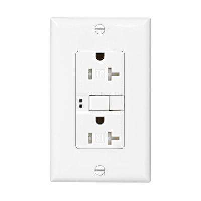 GFCI Self-Test 20A -125V Tamper Resistant Duplex Receptacle with Standard Size Wallplate, White