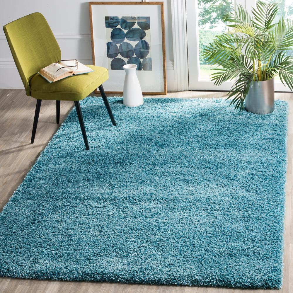 Turquoise Kitchen Rugs New Rug In The: Safavieh California Shag Turquoise 8 Ft. X 10 Ft. Area Rug