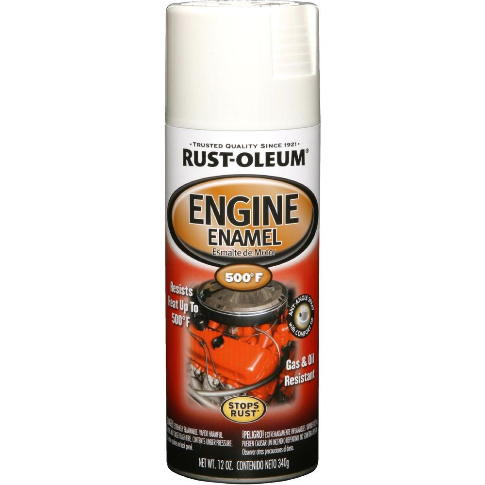 Rust-Oleum Automotive 12 oz. 500 Degree Universal White Engine Enamel Spray Paint (6-Pack)