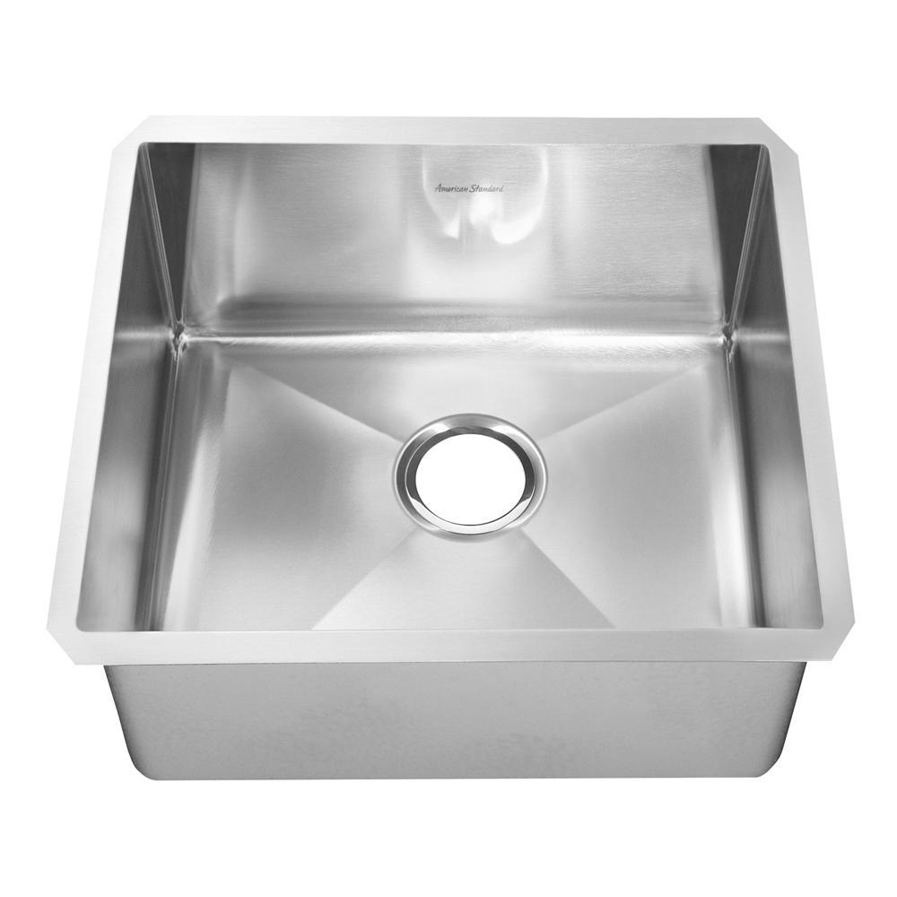 Pekoe Undermount Stainless Steel 23 in. 0-Hole Single Bowl Kitchen Sink Kit