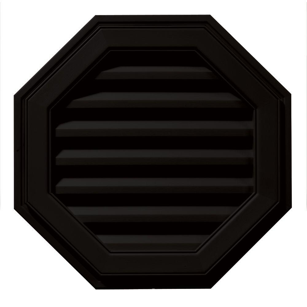 Builders Edge 22 in. Octagon Gable Vent in Black