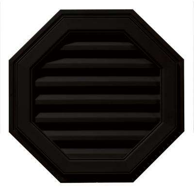 22 in. Octagon Gable Vent in Black