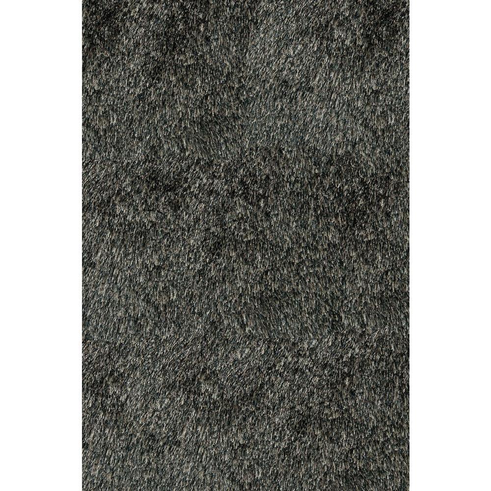 Momeni Luster Shag Carbon 5 ft. x 7 ft. Indoor Area Rug