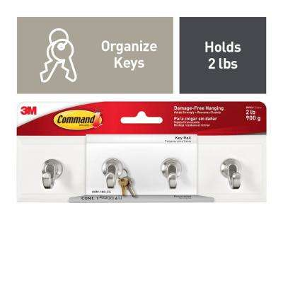 Small Quartz Key Rail Hook