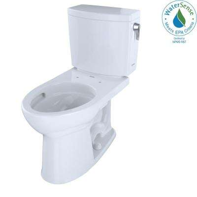 Drake II 2-Piece 1.0 GPF Single Flush Elongated Toilet with CeFiONtect and Right Hand Trip Lever in Cotton White