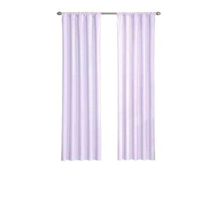 Kids Microfiber Blackout Window Curtain Panel in Light Purple - 42 in. W x 63 in. L