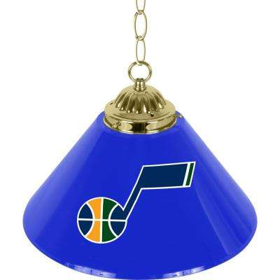 Utah Jazz NBA 14 in. Single Shade Gold Hanging Lamp
