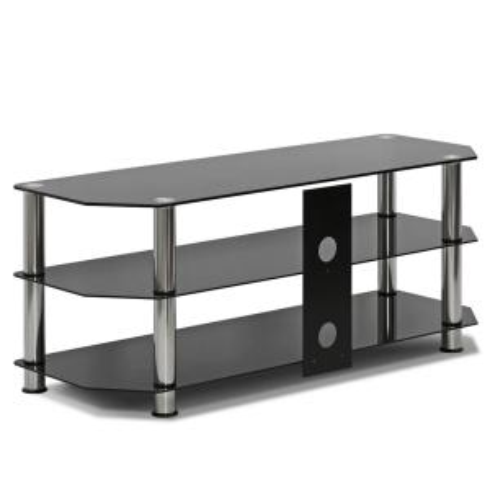 3 furinno silk black screen glass tv stand