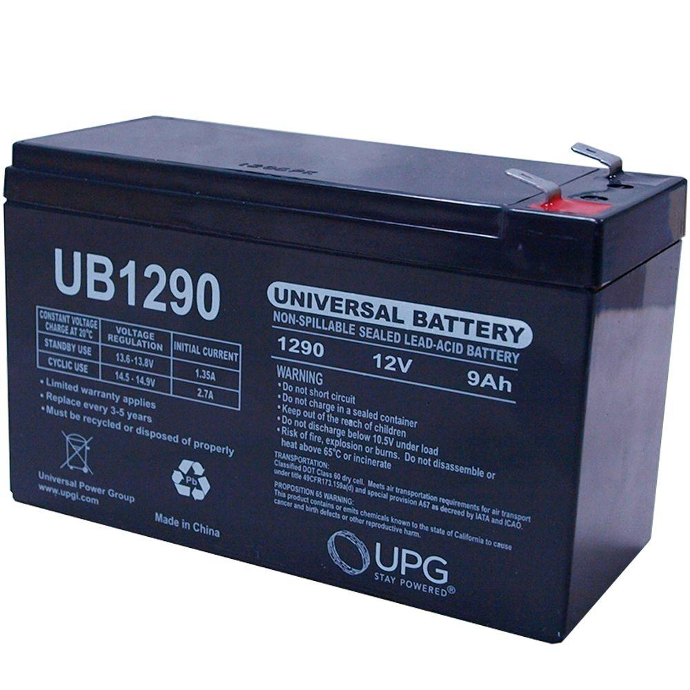 upg sla 12 volt 9 ah f2 terminal battery ub1290f2 the. Black Bedroom Furniture Sets. Home Design Ideas