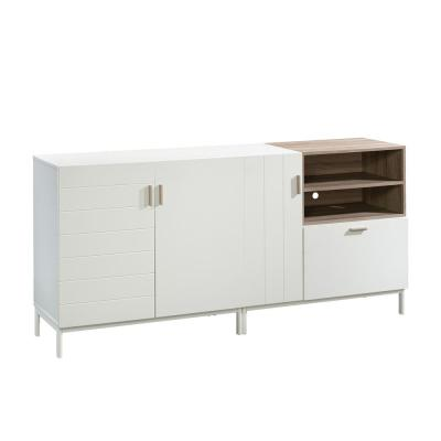 Anda Norr 72 in. Sky Oak Particle Board TV Stand with 1 Drawer Fits TVs Up to 60 in. with Storage Doors